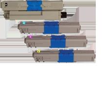 Okidata C330 / C530 (Type C17) Laser Toner Cartridge Set Black Cyan Magenta Yellow
