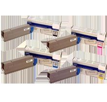 OKIDATA C8600 / C8800 Laser Toner Cartridge Set Black Cyan Yellow Magenta