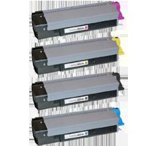 OKIDATA CX2032 Laser Toner Cartridge Set Black Cyan Yellow Magenta