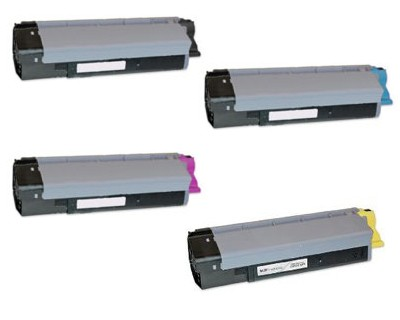 Original OKIDATA CX2033 / CX2033MFP Laser Toner Cartridge Set Black Cyan Yellow Magenta