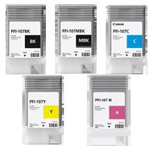 CANON PFI-107 INK / INKJET Cartridge Set Matte Black Black Cyan Magenta Yellow