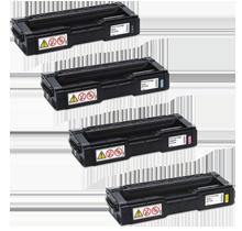 RICOH SPC 220 / 221 / 240 Laser Toner Cartridge Set Black Cyan Magenta Yellow