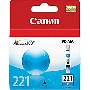 Original CANON CLI-221C INK / INKJET Cartridge Cyan