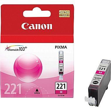 Original CANON CLI-221M INK / INKJET Cartridge Magenta