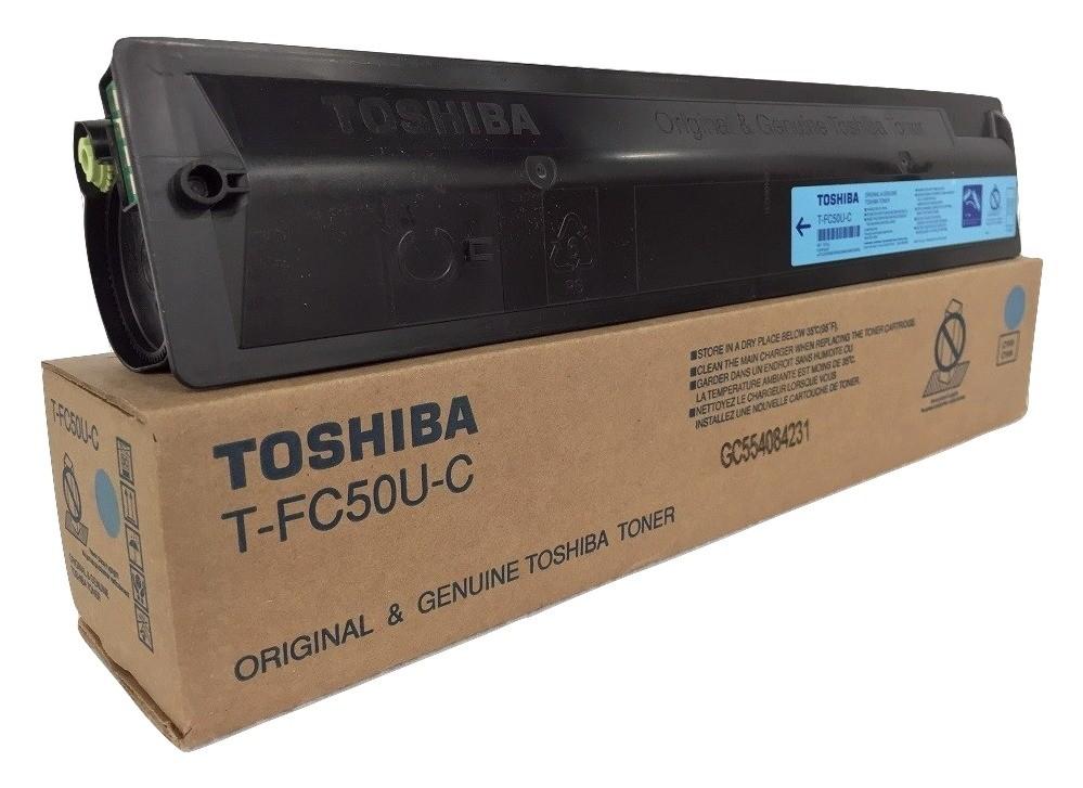 ~Brand New Original TOSHIBA TFC50UC Laser Toner Cartridge Cyan