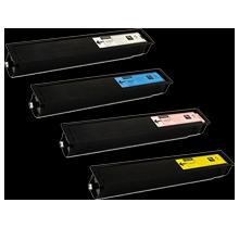 TOSHIBA TFC-65 Laser Toner Cartridge Set Black Magenta Cyan Yellow