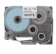 """BROTHER P-Touch Label Tape - 3/4"""" x 26' Black on White"""