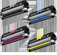 Xerox 6121 Laser Toner Cartridge Set Black Cyan Magenta Yellow High Yield