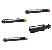 XEROX 7132 / 7232 / 7242 Laser Toner Cartridge Set Black Cyan Yellow Magenta