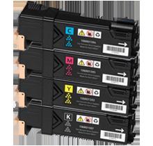 Xerox 6500 / 6505 High Yield Laser Toner Cartridge Set Black Cyan Yellow Magenta