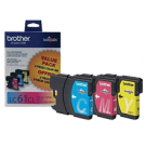 ~Brand New Original BROTHER LC613PKS INK / INKJET Cartridge 3 Pack Color Set Cyan Yellow Magenta