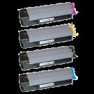 OKIDATA CX2032 (Type C8) Laser Toner Cartridge Set Black Cyan Yellow Magenta
