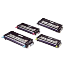 DELL 3130CN Laser Toner Cartridges Set Black Cyan Yellow Magenta High Yield