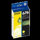 ~Brand New Original EPSON T676XL420 676XL High Yield INK / INKJET Cartridge Yellow