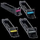 Konica Minolta TN318 Laser Toner Cartridge Set Black Cyan Yellow Magenta