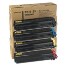 ~Brand New Original Kyocera Mita TK-512 Laser Toner Cartridge Set Black Cyan Yellow Magenta