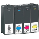 LEXMARK 100XL High Yield INK / INKJET Cartridge Set Black Cyan Yellow Magenta