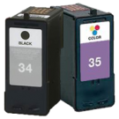 LEXMARK 18C0034 / 18C0035 High Yield INK / INKJET Cartridge Combo Black Tri-Color