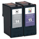 LEXMARK 18C2090 / 18C2110 INK / INKJET Cartrdige Combo Pack Black Tri-Color