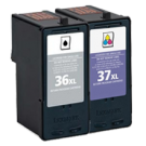 LEXMARK 18C2170 / 18C2180 36XL / 37XL High Yield INK / INKJET Cartridge Black Color COMBO PACK