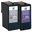 LEXMARK 18Y0143 / 18Y0144 #43XL / #44XL INK / INKJET Cartridge Combo Pack Black Tri-Color High Yield