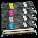 LEXMARK / IBM C5220 Laser Toner Cartridge Set Black Cyan Yellow Magenta