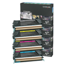 ~Brand New Original LEXMARK / IBM C734 Laser Toner Cartridge Set Black Cyan Yellow Magenta