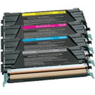 LEXMARK / IBM C734 Laser Toner Cartridge Set Black Cyan Yellow Magenta