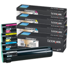 ~Brand New Original LEXMARK / IBM C930 Laser Toner Cartridge Set Black Cyan Yellow Magenta