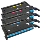 SAMSUNG CLP-600 Laser Toner Cartridge Set Black Cyan Yellow Magenta