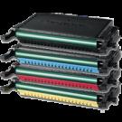 SAMSUNG CLP-660B High Yield Laser Toner Cartridge Set Black Cyan Yellow Magenta