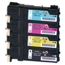 Xerox 6125 Laser Toner Cartridge Set Black Cyan Yellow Magenta