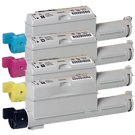 Xerox / TEKTRONIX 6360 Laser Toner Cartridge Set Black Cyan Yellow Magenta High Yield