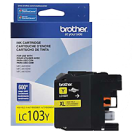 Brand New Original BROTHER LC103Y INK / INKJET Cartridge Yellow High Yield