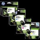 Brand New Original HP 934XL / 935XL INK / INKJET Cartridge High Yield Set Black Yellow Cyan Magenta