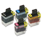 Brother LC41 Ink Cartridge Set Black Cyan Yellow Magenta