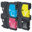 Brother LC61 Ink Cartridge Set Black Cyan Yellow Magenta