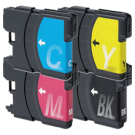 Brother LC65 Ink Cartridge Set Black Cyan Yellow Magenta