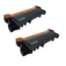 PACK of 2-Brother TN660 Laser Toner Cartridge Black High Yield