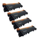 PACK of 4-Brother TN660 Laser Toner Cartridge Black High Yield