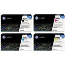 ~Brand New Original HP CP3525 Laser Toner Cartridge Set Black Cyan Yellow Magenta (Black High Yield)