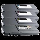 DELL C3760 / C3765 Extra High Yield Laser Toner Cartridge Set Black Cyan Magenta Yellow