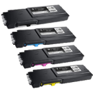 Dell S3840 / S3845 Extra High Yield Laser Toner Cartridge Set Black Cyan Magenta Yellow