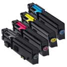 Dell C2660 / C2665 Laser Toner Cartridge Set Black Cyan Yellow Magenta