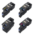 DELL E525W Laser Toner Cartridge Set Black Cyan Magenta Yellow