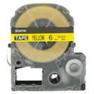 EPSON SC6YW (LC-2YBW) Label Tape Maker Black on Yellow