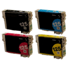 EPSON T125 INK / INKJET Cartridge Set Black Cyan Magenta Yellow