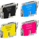 EPSON T032 INK / INKJET Cartridge Set Black Cyan Yellow Magenta