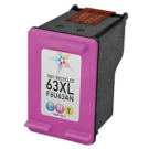 HP F6U63AN (HP 63XL) High Yield INK / INKJET Cartridge Tri-Color