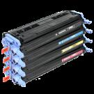 HP 2600 Laser Toner Cartridge Set Black Cyan Yellow Magenta